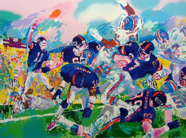 Giants Broncos Classic 1987 Limited Edition Print by LeRoy Neiman