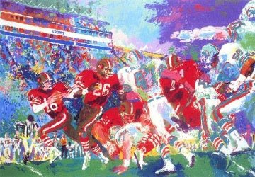 Superbowl XIX 49ers Vs Dolphins Limited Edition Print by LeRoy Neiman