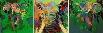 Elephant Triptych Limited Edition Print by LeRoy Neiman