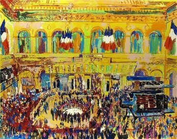 Paris Bourse 1981 Limited Edition Print by LeRoy Neiman