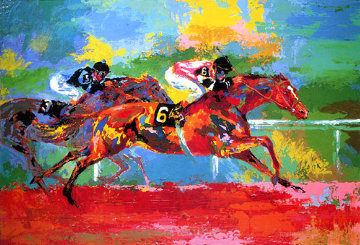 Race of the Year (affirmed and Spectacular Bid) 1980 Limited Edition Print - LeRoy Neiman