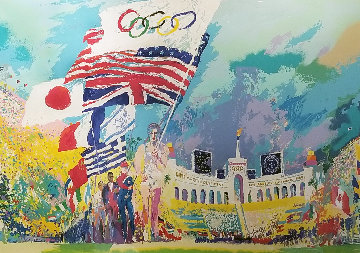 Opening Ceremonies 1984 Olympics 1985 Limited Edition Print - LeRoy Neiman