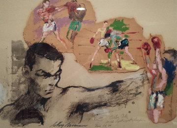Carlos Ortiz 1966 42x32 Huge Original Painting - LeRoy Neiman