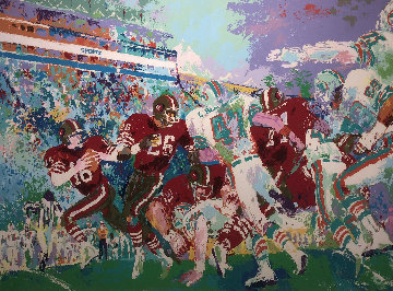 Superbowl XIX 49ers Vs. Dolphins 1985 Limited Edition Print by LeRoy Neiman