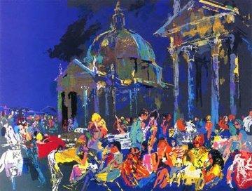 Piazza Del Popolo-Rome 1988 Limited Edition Print - LeRoy Neiman