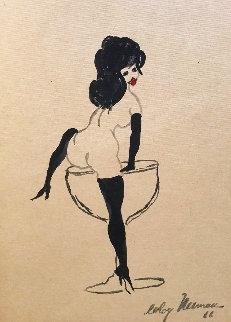 Femlin 1966 11x9 Works on Paper (not prints) by LeRoy Neiman