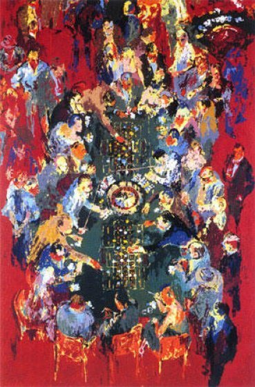 Gaming Table 1990 Limited Edition Print by LeRoy Neiman