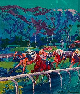 Santa Anita 1979 17x14 Original Painting by LeRoy Neiman