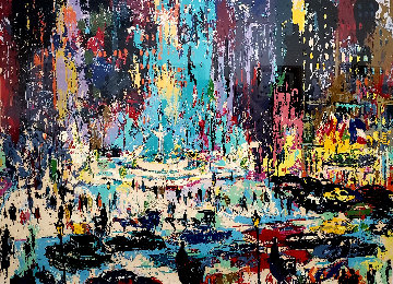 Plaza Square 1985 Limited Edition Print - LeRoy Neiman