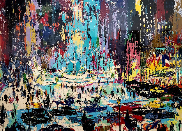 Plaza Square 1985 Limited Edition Print by LeRoy Neiman