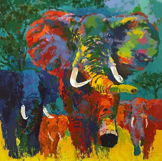 Elephant Charge 1999 Limited Edition Print by LeRoy Neiman