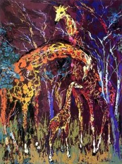 Giraffe Family 1974 Limited Edition Print - LeRoy Neiman