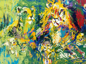 Lion Family 1974 Limited Edition Print - LeRoy Neiman
