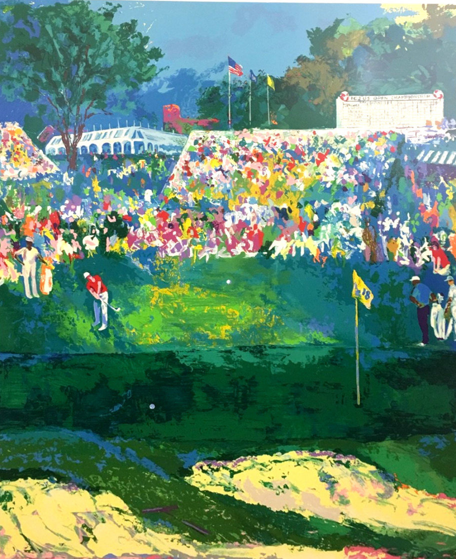 Bethpage Black Course 2002 Us Open- Golf Limited Edition Print by LeRoy Neiman