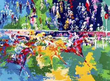 Ascot Finish AP 1974 Limited Edition Print - LeRoy Neiman