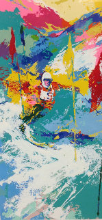 Downhill Skier 1973 Limited Edition Print by LeRoy Neiman