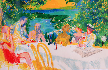 Wine Alfresco 2000 Limited Edition Print - LeRoy Neiman