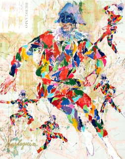 Harlequin Bergamo 1983 Limited Edition Print by LeRoy Neiman