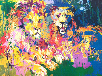 Lions Pride 1970 Limited Edition Print - LeRoy Neiman