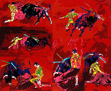 Red Corrida AP 1974 Limited Edition Print by LeRoy Neiman