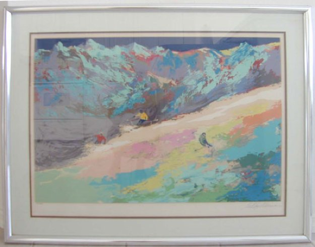 High Altitude Skiing 1977 Limited Edition Print by LeRoy Neiman