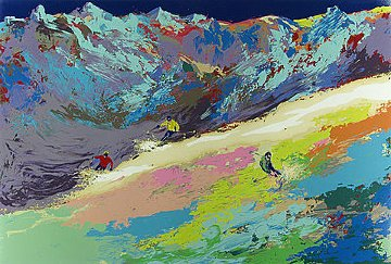High Altitude Skiing 1977 Limited Edition Print - LeRoy Neiman