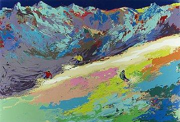 High Altitude Skiing 1977 Limited Edition Print - LeRoy Neiman