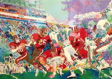 Superbowl XIX 49ers Vs Dolphins 1985 Limited Edition Print - LeRoy Neiman
