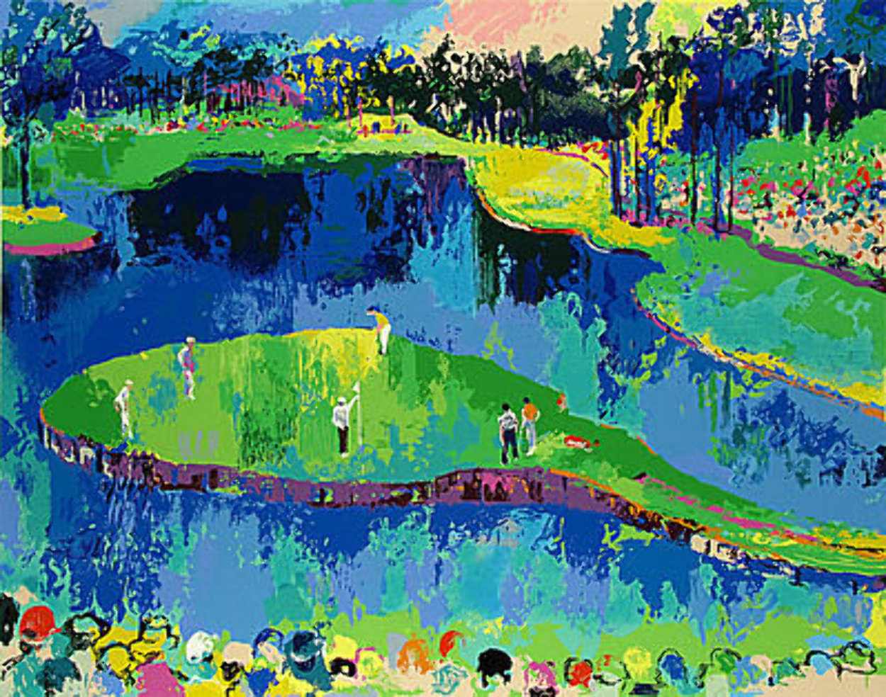Second Hole At Sawgrass 2001 Limited Edition Print by LeRoy Neiman