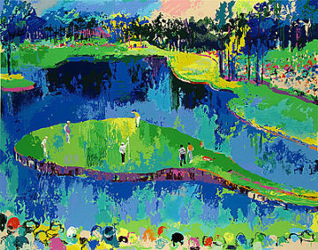 Second Hole At Sawgrass 2001 Limited Edition Print - LeRoy Neiman