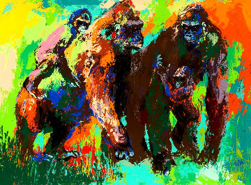 Gorilla Family 1980 Limited Edition Print - LeRoy Neiman