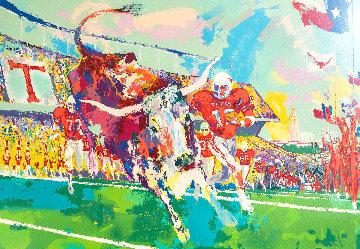 Texas Longhorns 1985 Limited Edition Print - LeRoy Neiman
