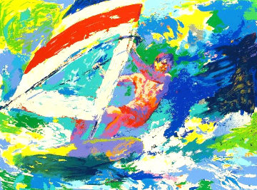 Wind Surfer AP 1973 Limited Edition Print - LeRoy Neiman