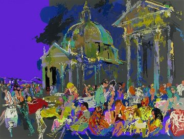 Piazza Del Popolo, Rome 1988 Limited Edition Print by LeRoy Neiman