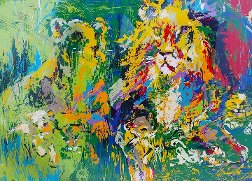 Lion Family 1974 Limited Edition Print by LeRoy Neiman
