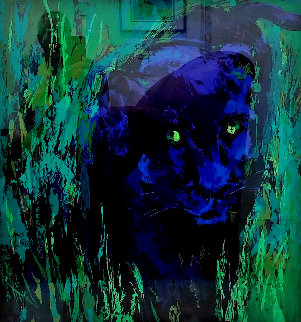 Portrait of the Black Panther 2004 Limited Edition Print - LeRoy Neiman