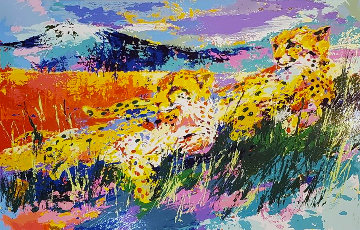Kilimanjaro Cheetahs 1986 Limited Edition Print by LeRoy Neiman