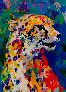 Portrait of a Cheetah 2004 Limited Edition Print - LeRoy Neiman