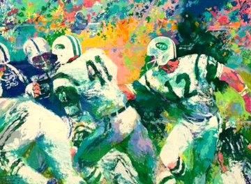 Handoff - Superbowl III 2007 Limited Edition Print by LeRoy Neiman