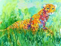 Prowling Leopard 2003 Limited Edition Print by LeRoy Neiman - 0
