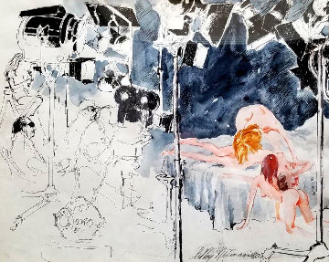 XXX Film Director  1980  21x25 Works on Paper (not prints) by LeRoy Neiman