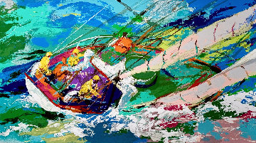 Yawl Sailing 2001 Limited Edition Print by LeRoy Neiman