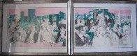 Polo Lounge Diptych 1980 Limited Edition Print by LeRoy Neiman - 7