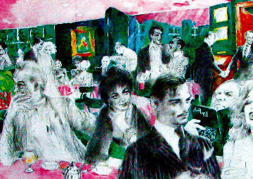 Polo Lounge Diptych 1980 Limited Edition Print - LeRoy Neiman