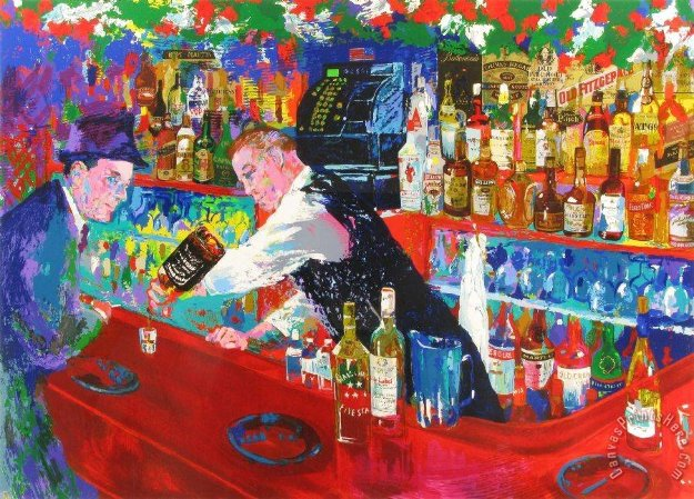 Frank At Rao's 2005 Limited Edition Print by LeRoy Neiman
