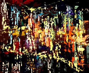 New York Skyline 1958 31x34 (Early) Original Painting by LeRoy Neiman
