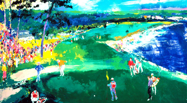 18th At Pebble Beach AP Limited Edition Print by LeRoy Neiman