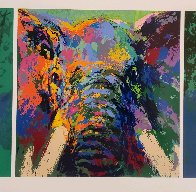 Elephant Triptych AP  Limited Edition Print by LeRoy Neiman - 1