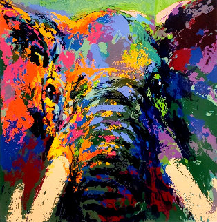 Elephant Triptych AP 2002 Limited Edition Print by LeRoy Neiman