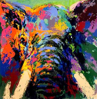 Elephant Triptych AP 2002 Limited Edition Print - LeRoy Neiman